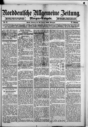 Norddeutsche allgemeine Zeitung vom 22.01.1882
