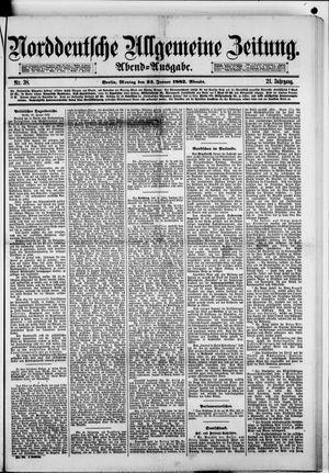 Norddeutsche allgemeine Zeitung vom 23.01.1882