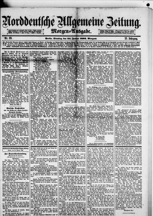 Norddeutsche allgemeine Zeitung vom 24.01.1882