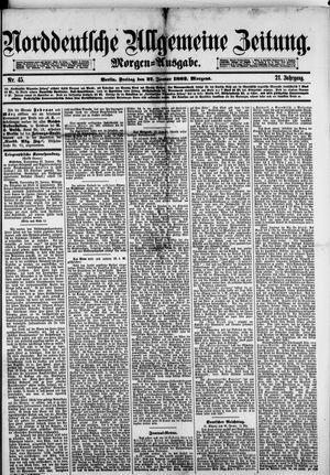Norddeutsche allgemeine Zeitung vom 27.01.1882