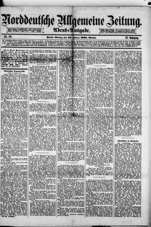 Norddeutsche allgemeine Zeitung vom 30.01.1882