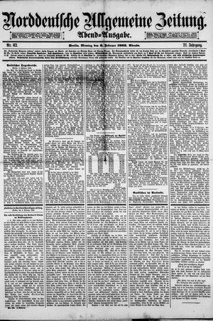 Norddeutsche allgemeine Zeitung vom 06.02.1882