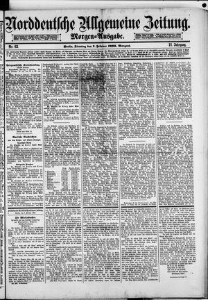 Norddeutsche allgemeine Zeitung vom 07.02.1882