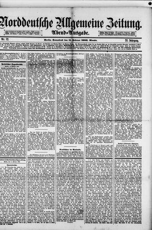 Norddeutsche allgemeine Zeitung vom 11.02.1882