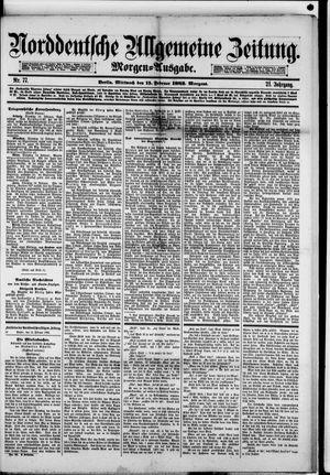 Norddeutsche allgemeine Zeitung vom 15.02.1882