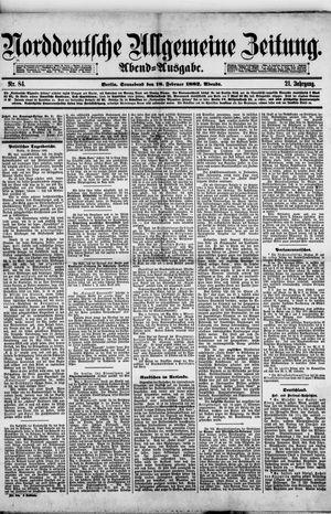 Norddeutsche allgemeine Zeitung vom 18.02.1882