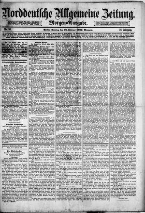 Norddeutsche allgemeine Zeitung vom 19.02.1882