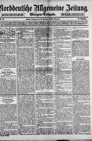 Norddeutsche allgemeine Zeitung vom 21.02.1882