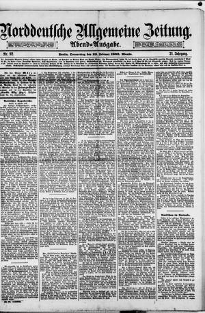 Norddeutsche allgemeine Zeitung vom 23.02.1882