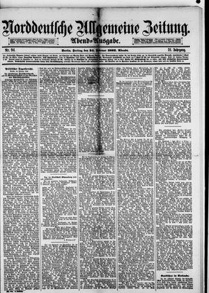 Norddeutsche allgemeine Zeitung vom 24.02.1882