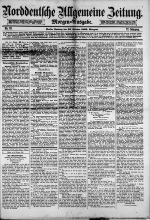 Norddeutsche allgemeine Zeitung vom 26.02.1882