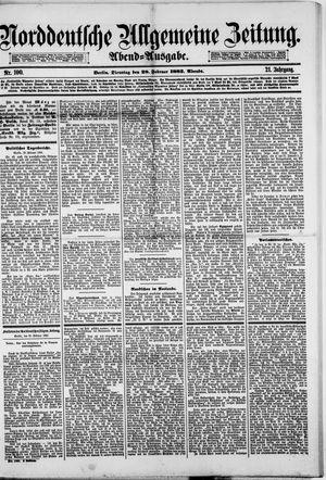 Norddeutsche allgemeine Zeitung vom 28.02.1882