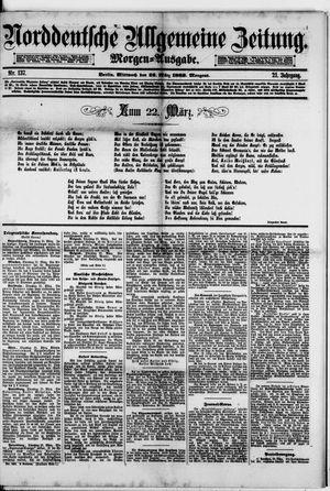Norddeutsche allgemeine Zeitung vom 22.03.1882