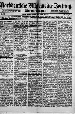 Norddeutsche allgemeine Zeitung vom 29.03.1882