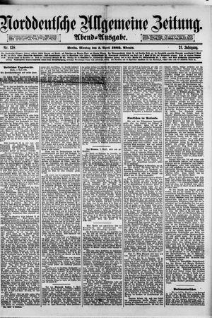Norddeutsche allgemeine Zeitung vom 03.04.1882