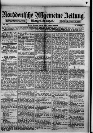 Norddeutsche allgemeine Zeitung vom 19.04.1882