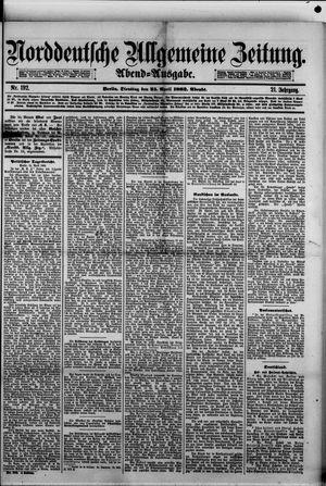 Norddeutsche allgemeine Zeitung vom 25.04.1882