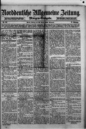 Norddeutsche allgemeine Zeitung vom 28.04.1882