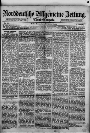 Norddeutsche allgemeine Zeitung vom 01.05.1882