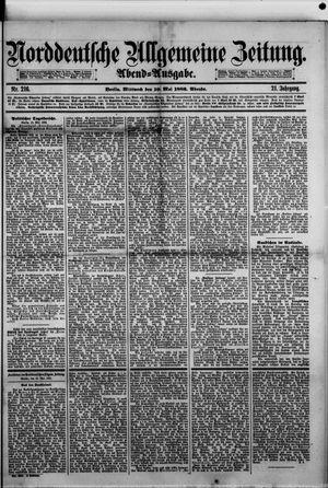 Norddeutsche allgemeine Zeitung vom 10.05.1882