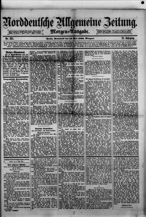 Norddeutsche allgemeine Zeitung vom 13.05.1882