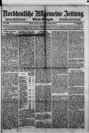 Norddeutsche allgemeine Zeitung vom 16.05.1882