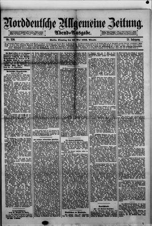 Norddeutsche allgemeine Zeitung on May 23, 1882