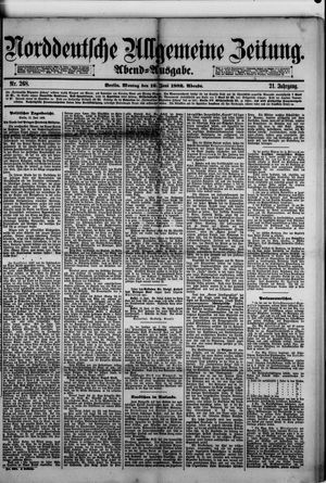 Norddeutsche allgemeine Zeitung vom 12.06.1882