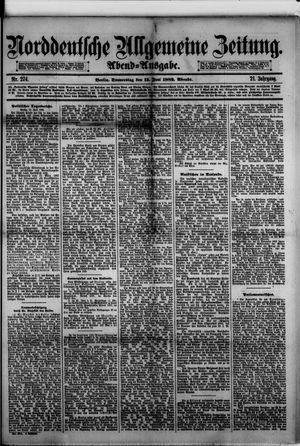 Norddeutsche allgemeine Zeitung vom 15.06.1882