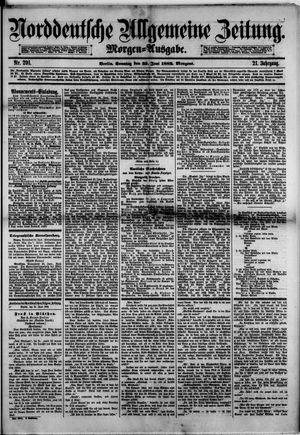 Norddeutsche allgemeine Zeitung vom 25.06.1882