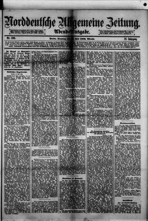Norddeutsche allgemeine Zeitung vom 18.07.1882