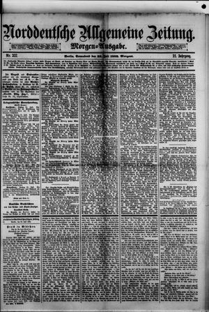 Norddeutsche allgemeine Zeitung vom 22.07.1882