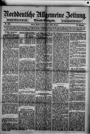 Norddeutsche allgemeine Zeitung vom 24.07.1882