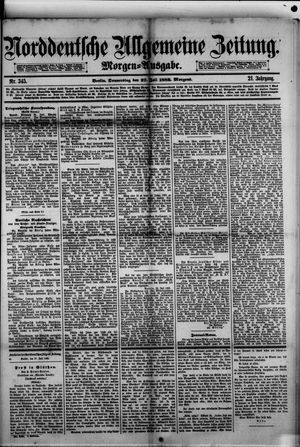 Norddeutsche allgemeine Zeitung vom 27.07.1882