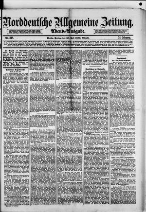 Norddeutsche allgemeine Zeitung vom 28.07.1882