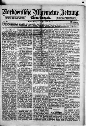 Norddeutsche allgemeine Zeitung vom 31.07.1882