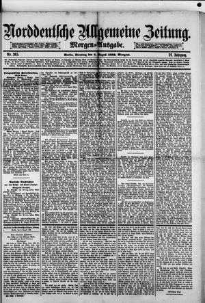 Norddeutsche allgemeine Zeitung vom 08.08.1882