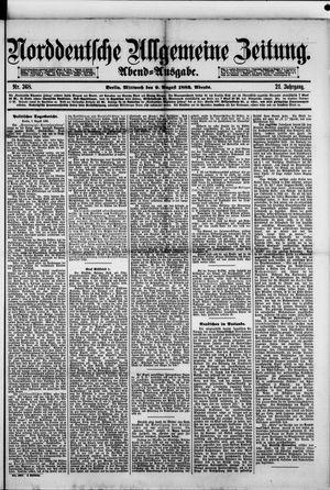 Norddeutsche allgemeine Zeitung vom 09.08.1882