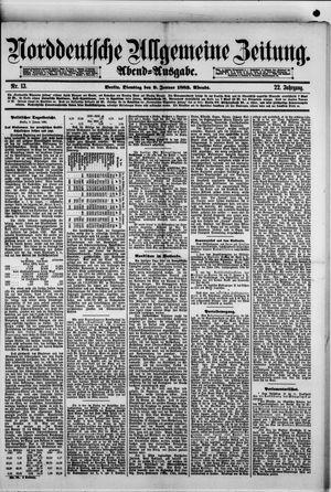 Norddeutsche allgemeine Zeitung vom 09.01.1883