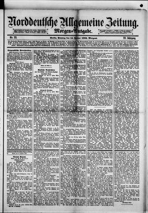 Norddeutsche allgemeine Zeitung vom 14.01.1883