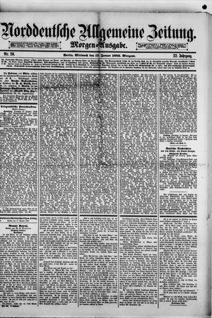 Norddeutsche allgemeine Zeitung vom 17.01.1883