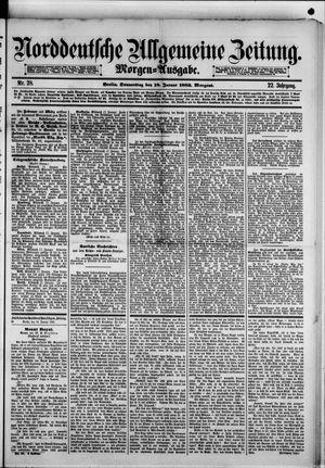 Norddeutsche allgemeine Zeitung vom 18.01.1883