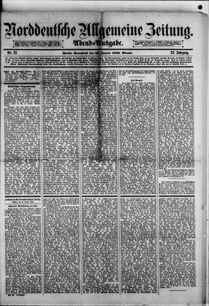 Norddeutsche allgemeine Zeitung vom 20.01.1883