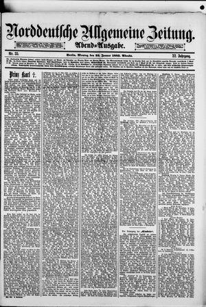 Norddeutsche allgemeine Zeitung vom 22.01.1883