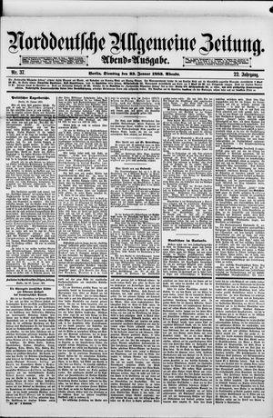 Norddeutsche allgemeine Zeitung vom 23.01.1883