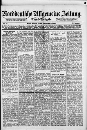 Norddeutsche allgemeine Zeitung vom 24.01.1883