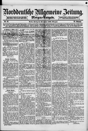 Norddeutsche allgemeine Zeitung vom 26.01.1883