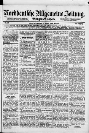 Norddeutsche allgemeine Zeitung vom 31.01.1883