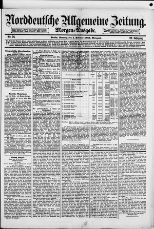 Norddeutsche allgemeine Zeitung vom 04.02.1883