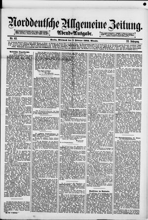 Norddeutsche allgemeine Zeitung vom 07.02.1883